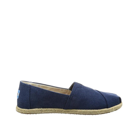 Toms Womens Canvas Slip-on Alpargata Flat Washed Navy 10009758