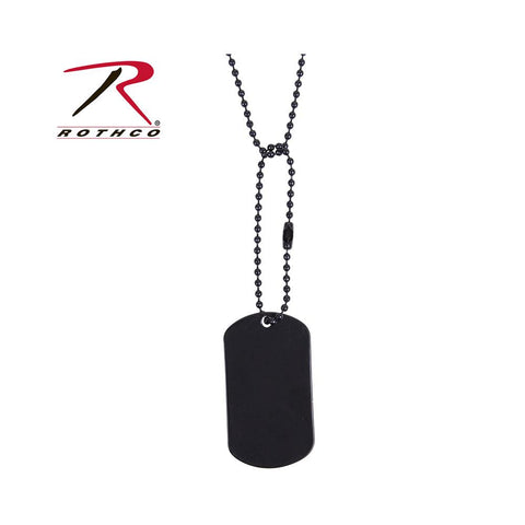 Rothco Military dog Tag Black 8393