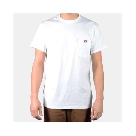 Ben Davis Classic Label Pocket T-Shirt White 9020