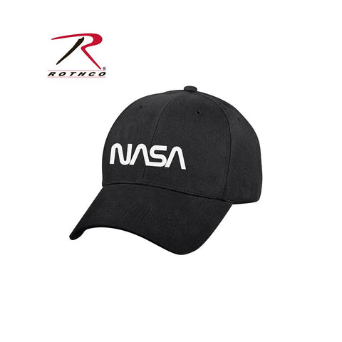 Rothco NASA Worm Logo Low Profile Cap Black 3799