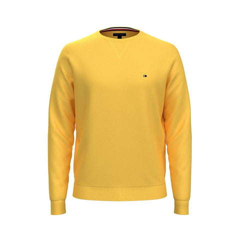 Tommy Hilfiger Men's Signature Solid Crew Neck Sweater Aspen Gold 78J0478 730