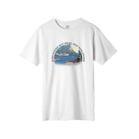 Huf Glad Youre Not Here T-Shirt White TS01102
