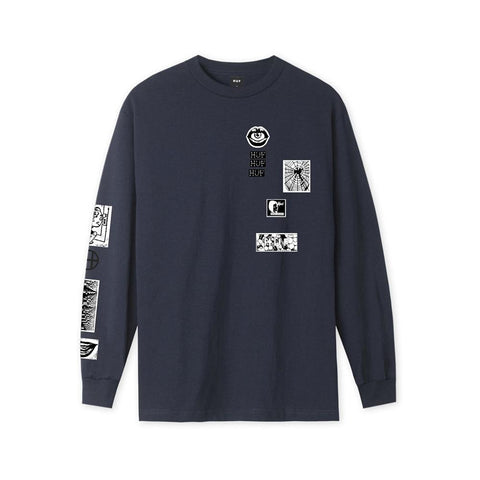 Huf Masters Long Sleeve T-Shirt French Navy TS01166