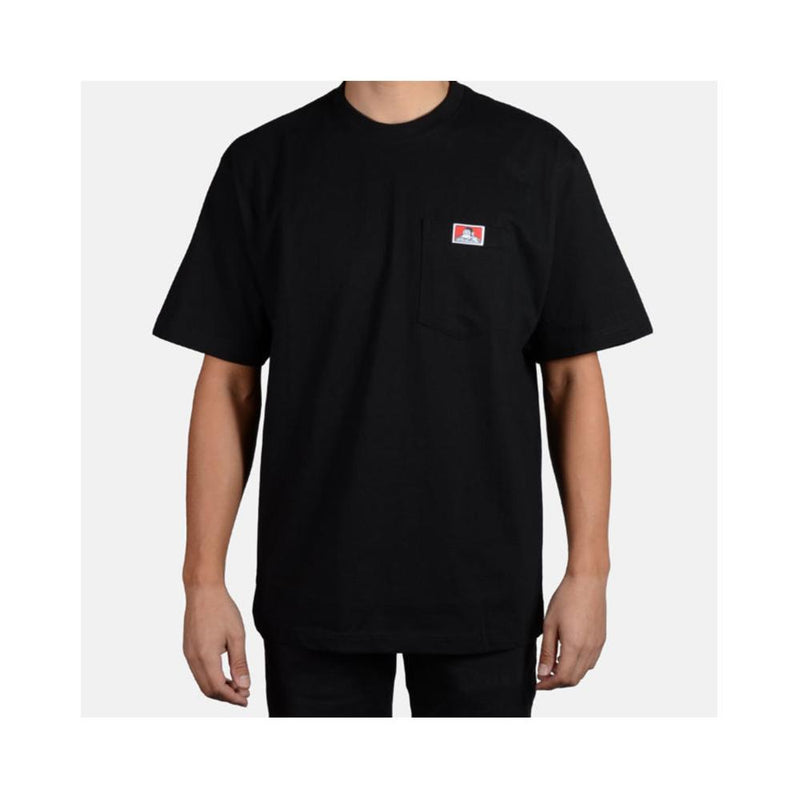 Ben Davis Classic Label Heavy Duty Short Sleeve Pocket T-Shirt  Black 914