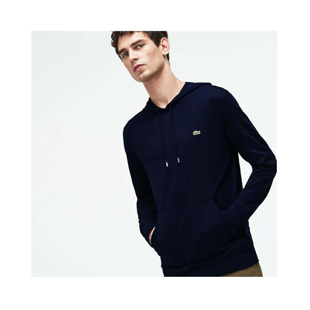 Lacoste Men's Hooded Cotton Jersey Sweatshirt Navy Blue TH9349-51 166
