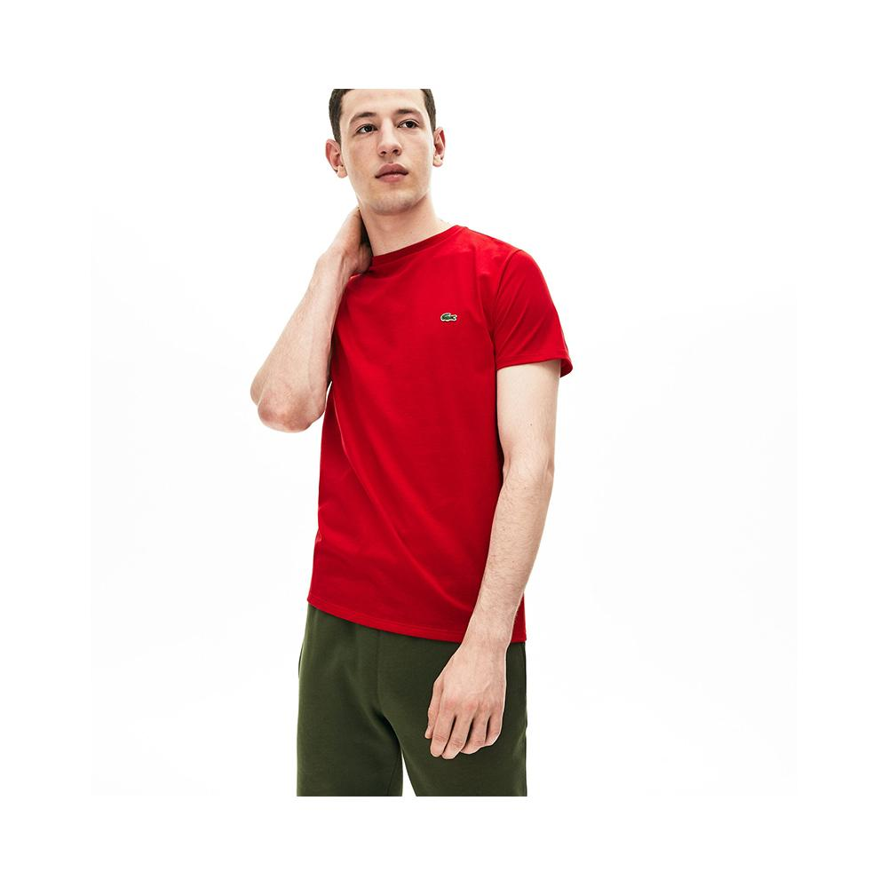 a273dc7320be Lacoste Men's Crew Neck Pima Cotton Jersey T-shirt Red TH6709-51 240 ...