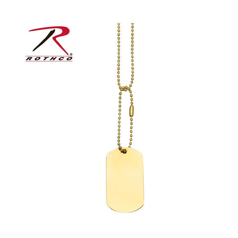 Rothco dog Tag Chain Gold 8387