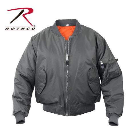 Rothco MA-1 Flight Jacket GunMetal Gray 7350