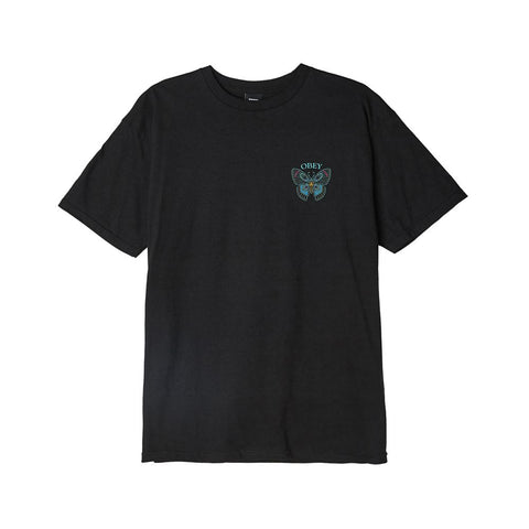 Obey Butterfly Basic T-Shirt Black 163082329