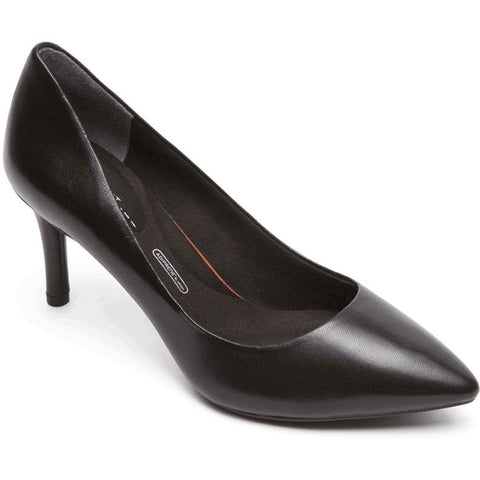 Rockport Total Motion Pointed Toe Pump Black Leather A11800