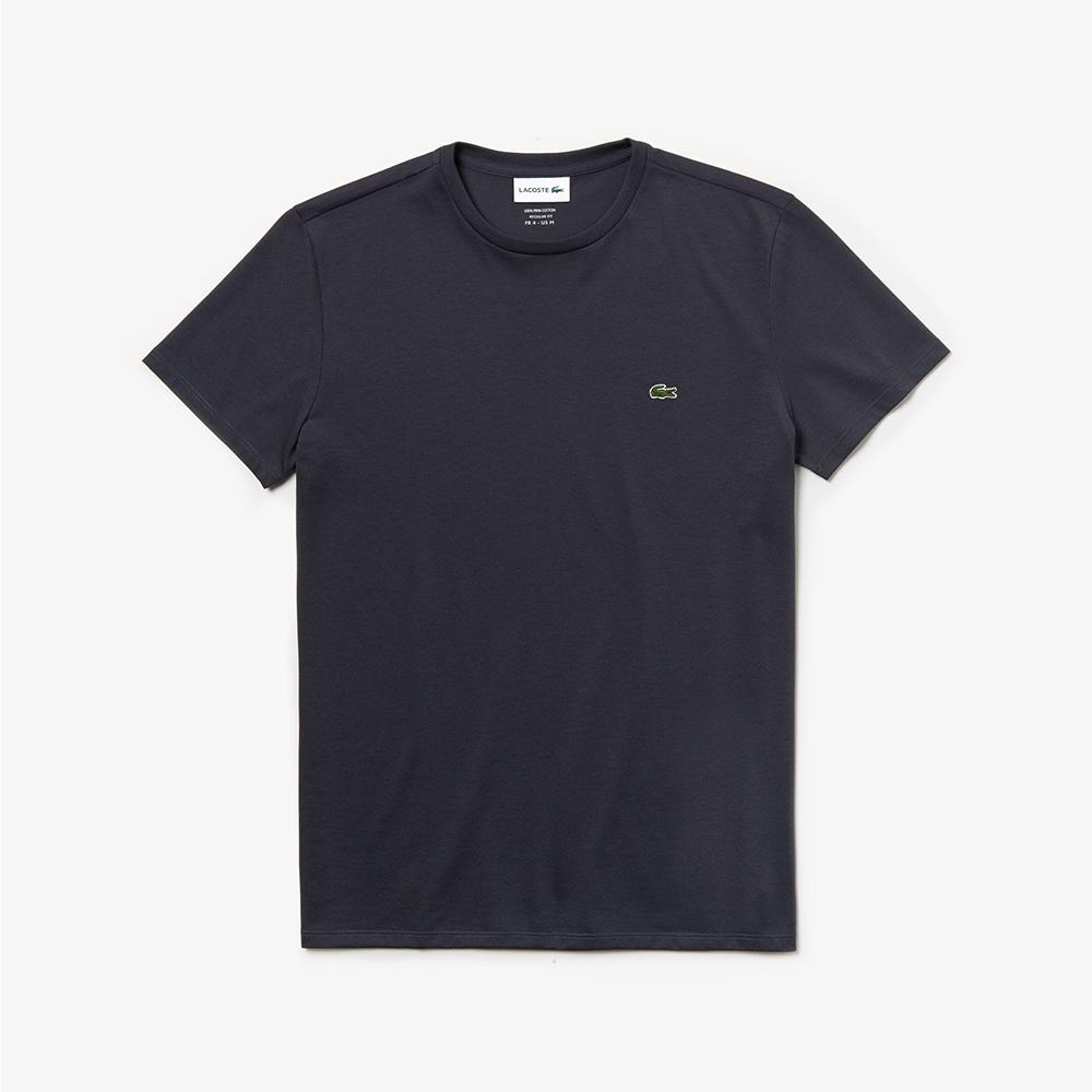 Lacoste Men's Crew Neck Pima Cotton Jersey T-shirt Graphite TH6709-51 S5T
