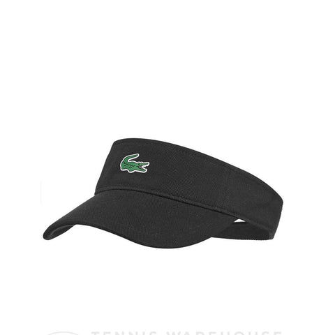 Lacoste Men's Sport Pique and Fleece Tennis Visor Black RK3553-51