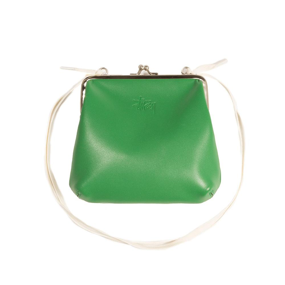 Stussy Vita Kisslock Purse Green 234071