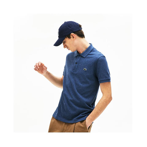 Lacoste Men's Petit Piqué Slim Fit Polo Shirt Medum Indigo Blue PH4012-51 2GF