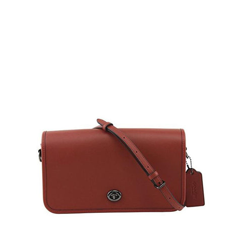 Coach  Dinky In Glovetanned Leather Oxblood F57325