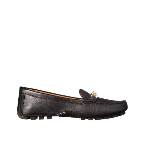 Coach Arlene Women Moccasin  Black Pebble Grain Leather