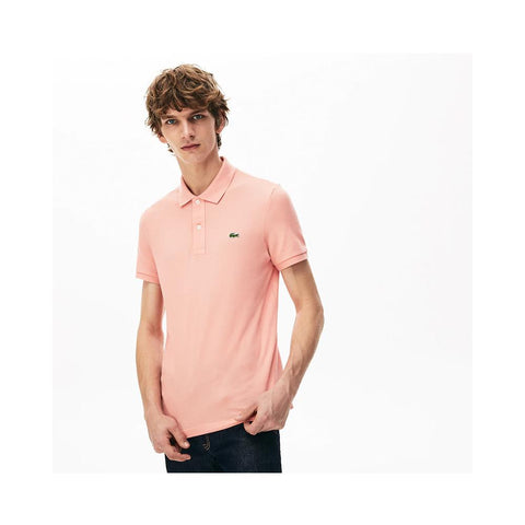 Lacoste Men's Petit Piqué Slim Fit Polo Shirt Elf Pink PH4012-51 5MM