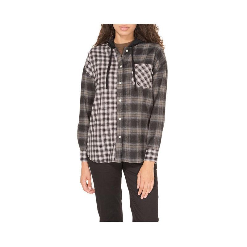 Stussy Cashed Hooded Flannel Shirt Multi 211112