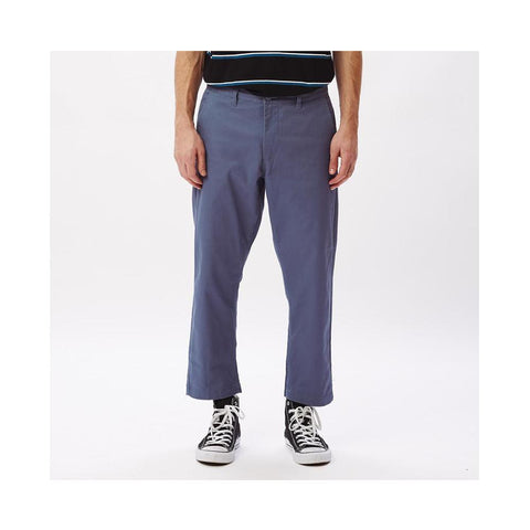 Obey Straggler Flooded Pants Dull Blue 142020113