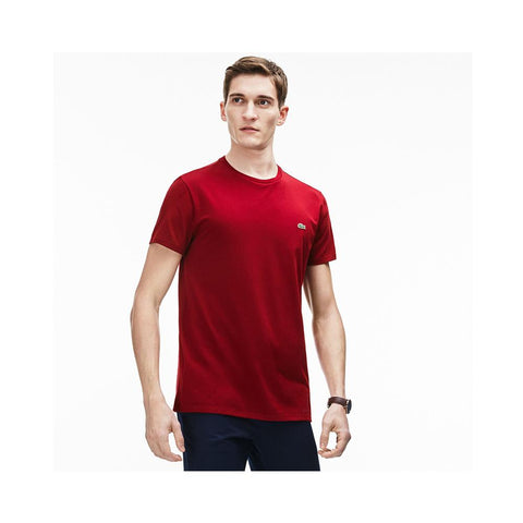 Lacoste Men's Crew Neck Pima Cotton Jersey T-shirt Bordeaux TH6709-51 476