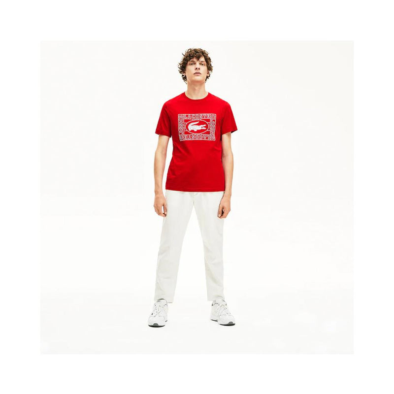 Lacoste  Crocodile Print Crew Neck T-shirt Red TH5097-51 240