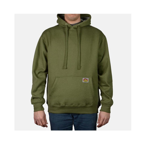 Ben Davis Heavyweight Hooded Sweatshirt Olive 982