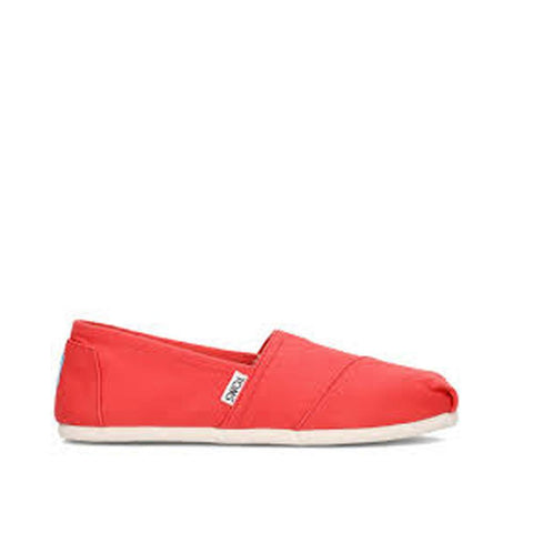 Toms Womens Canvas Slip-on Coral 10009705