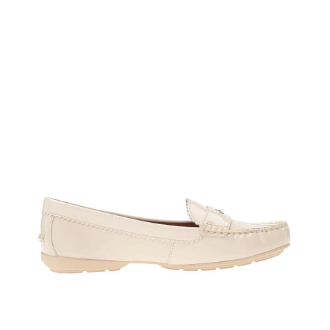 Coach Women's Odette Pebble Grain Leather Flat Chalk Patent