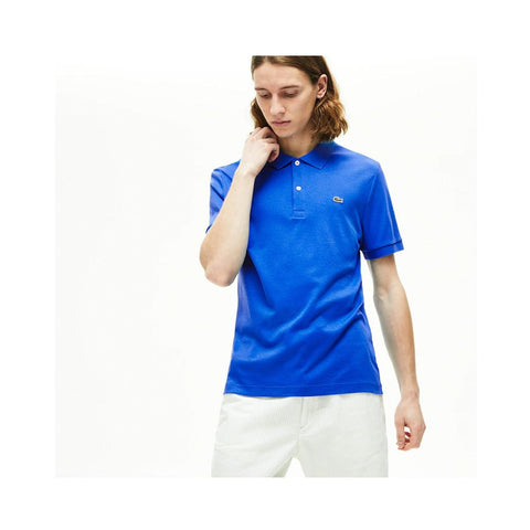 Lacoste Men's Regular Fit Lightweight Cotton Polo Nattier Blue DH2050-51 L61
