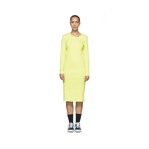 Stussy Temple L/SL Rib Dress Yellow 214471