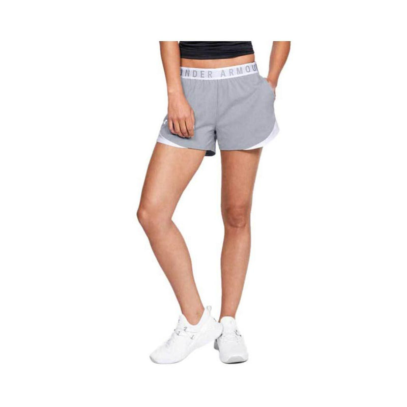 Under Armour Women's Play Up Shorts 3.0 True Gray Heather - White 1344552-025