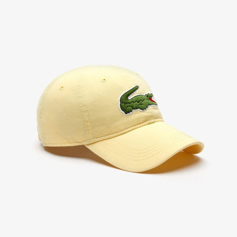 Lacoste Men's Big Croc Gabardine Cap Napolitan Yellow RK8217-51 6XP