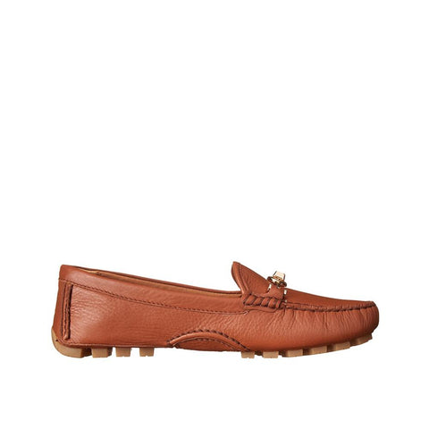 Coach Arlene Women Moccasin Saddle Pebble Grain Leather