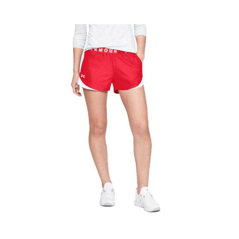 Under Armour Women's Play Up Shorts 3.0 Red - White 1344552-600