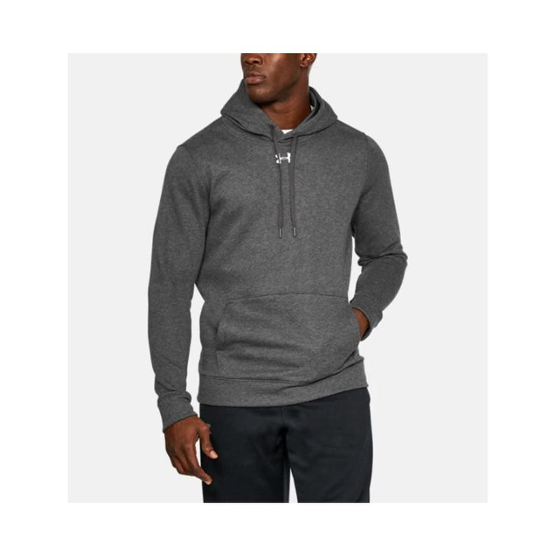 Under Armour Men's UA Hustle Fleece Hoody Carbon Heather - White 1300123-090