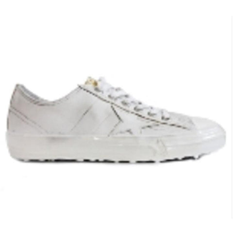 Golden Goose V-Star 2  White Paint G30MS639.L8