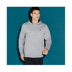 Lacoste  Men's Sport Hoodie Fleece Tennis Sweatshirt Silver Chine/Navy Blue SH2128-51 MNC