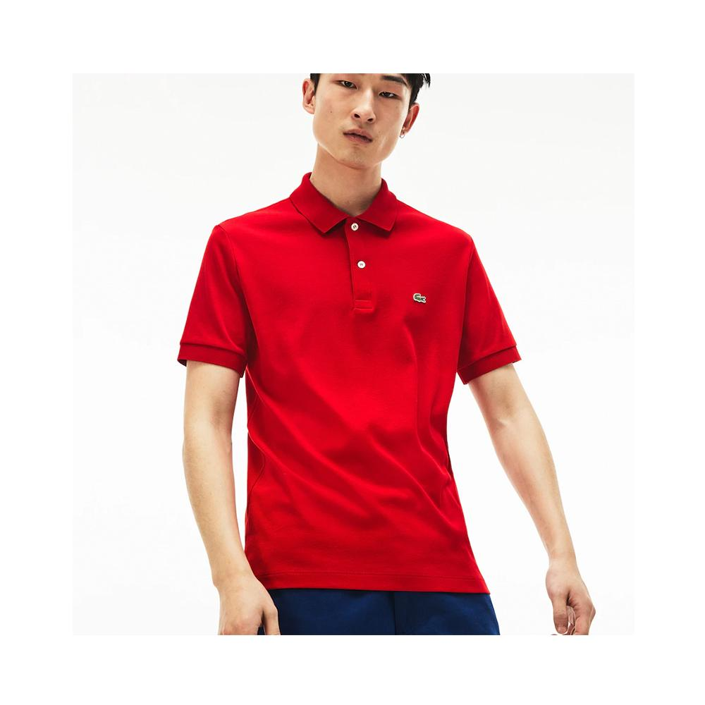 Lacoste Men's Regular Fit Lightweight Cotton Polo Red DH2050-51 240