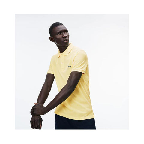Lacoste Men's Slim fit Petit Pique Polo Shirt Yellow PH4012-51 107