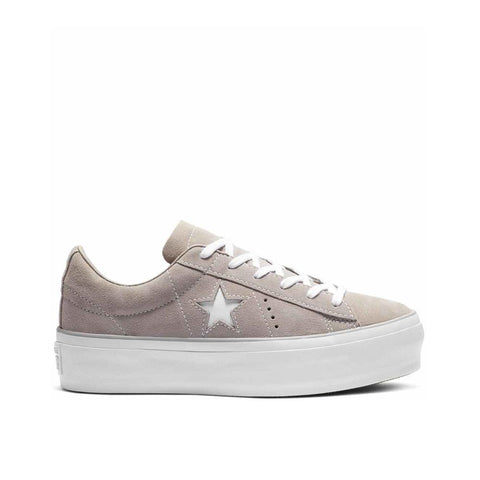 Converse One Star Platform Ox Suede Mercury/Grey 563870C