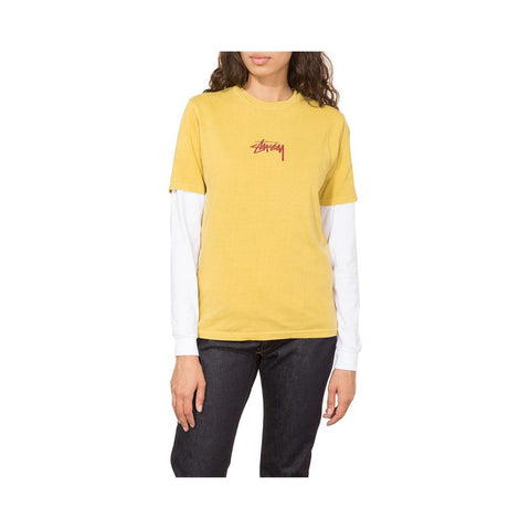 Stussy Stock Pig. Dyed Tee Mustard 2902939