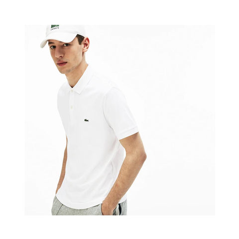Lacoste Men's Regular Fit Lightweight Cotton Polo White  DH2050-51 001
