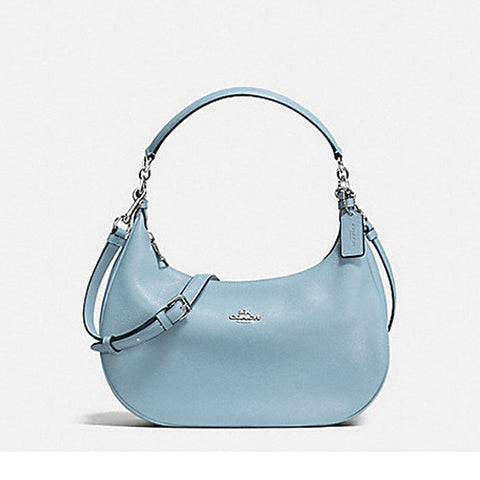 Coach Harley East/West Hobo In Pebble Leather Cornflower  F38250