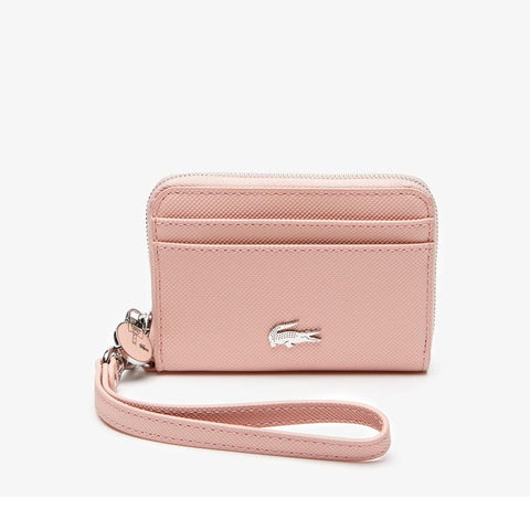 Lacoste Women's Daily Classic Small Coated Canvas Wallet Mallow Rose  NF2778DC-B86