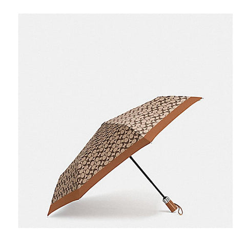 Coach Signature Umbrella Khaki/Saddle F63364