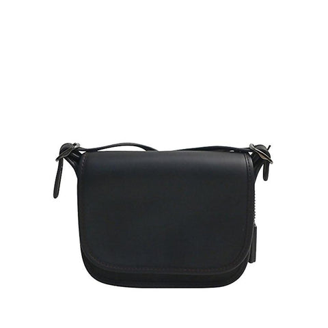 Coach Glovetanned Leather Saddle Bag Black F57731