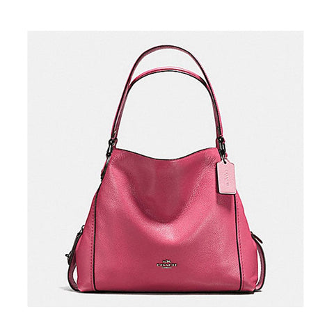 Coach Edie Shoulder Bag 31 In  Polished  Pebble Leather Dark Rouge F57125