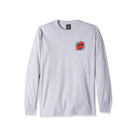 Obey Big Boy Pants Basic L/S Heather grey 164901595