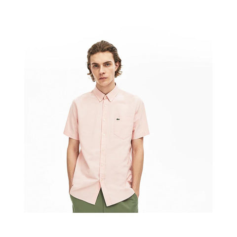 Lacoste Men's Regular Fit Oxford Cotton Shirt Elf Pink  CH4975-51-5MM