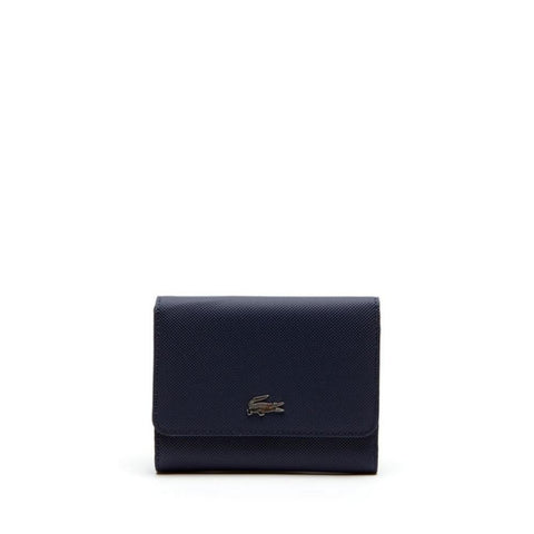 Lacoste Women's Daily Classic Coated Pique Canvas 8 Card Wallet Peacoat NF2539DC-021